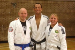 Bill and Caroline with Ryron Gracie | Team Pedro Sauer UK